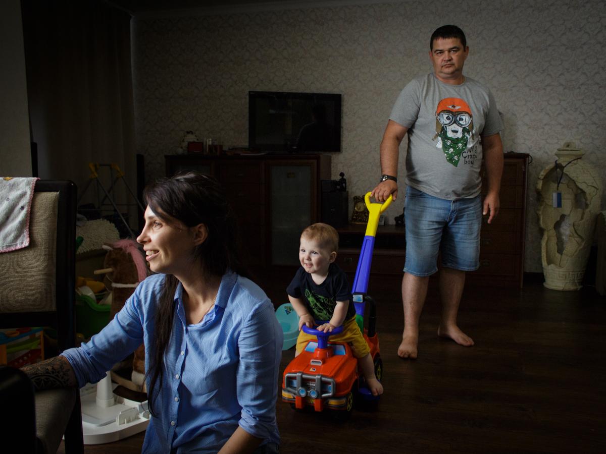 Маша, Антон и сын Захар