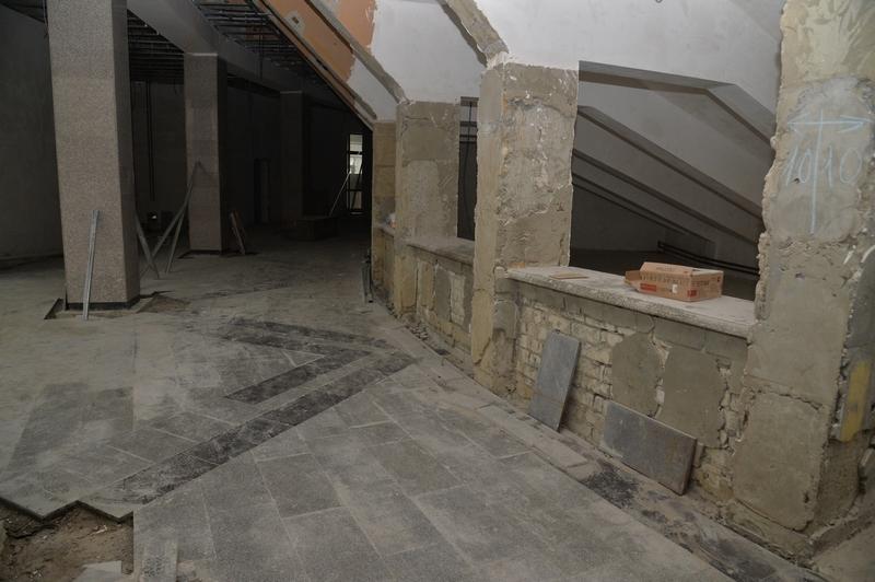 Ремонт внутри цирка. Фото Пресс-служба губернатора Саратовской области