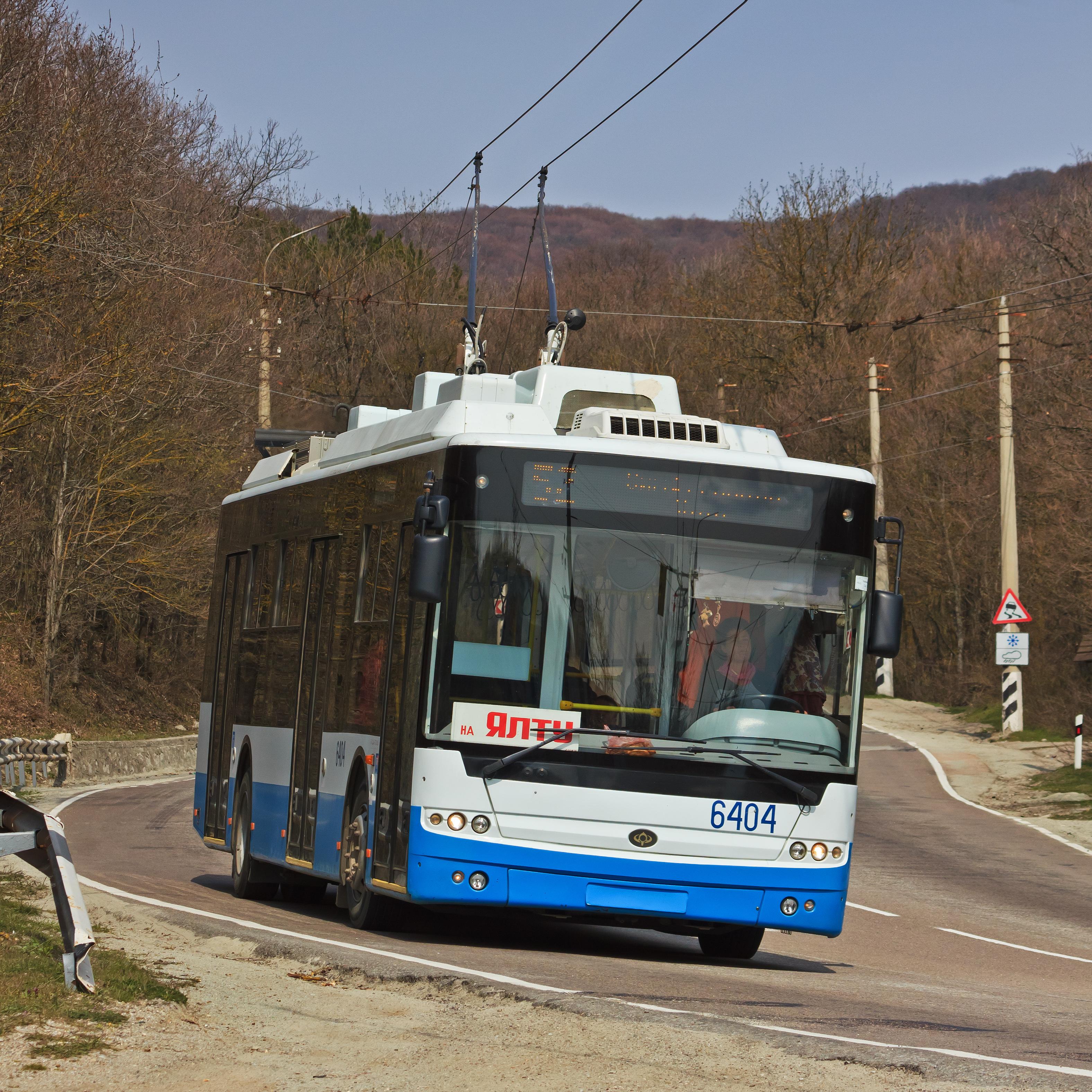Саратовские троллейбусы в Крыму