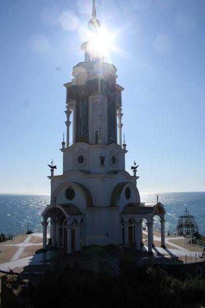 Церковь-маяк в Малореченском. 2011 год