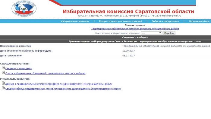 Выборы в Терсинском МО
