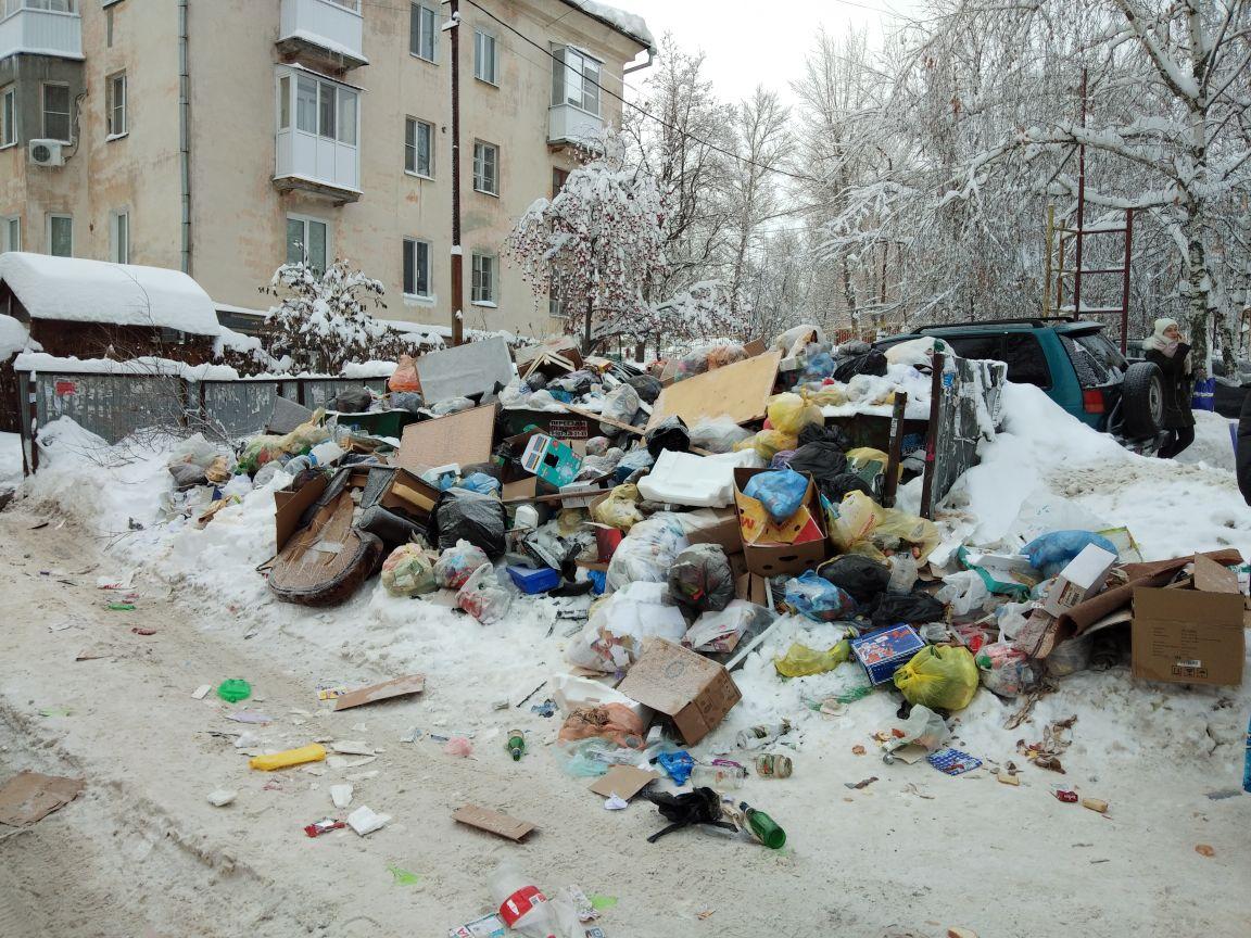 Гора мусора на Вишневом проезде
