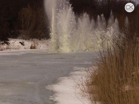 ВДергачевском районе провели ледовзрывные работы