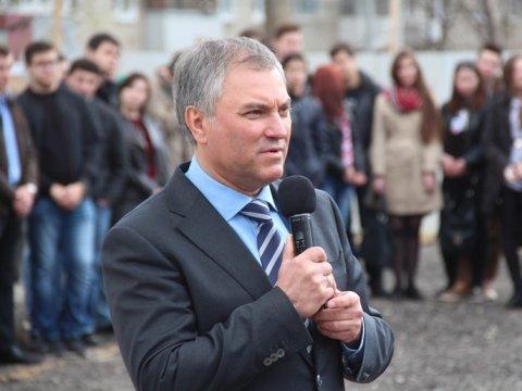 Володин высоко оценил представленную Радаевым программу развития региона