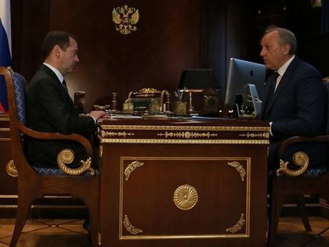 Врио губернатора обратился заподдержкой кДмитрию Медведеву