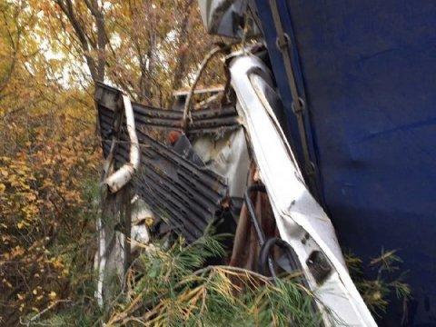 Под Вольском умер  шофёр  вылетевшего вкювет МАЗа