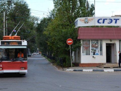 В Саратове стоят четыре троллейбусных и трамвайный маршруты